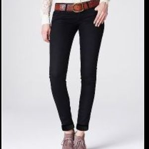 Lucky Brand Cate Stacked Skinny Black Jeans